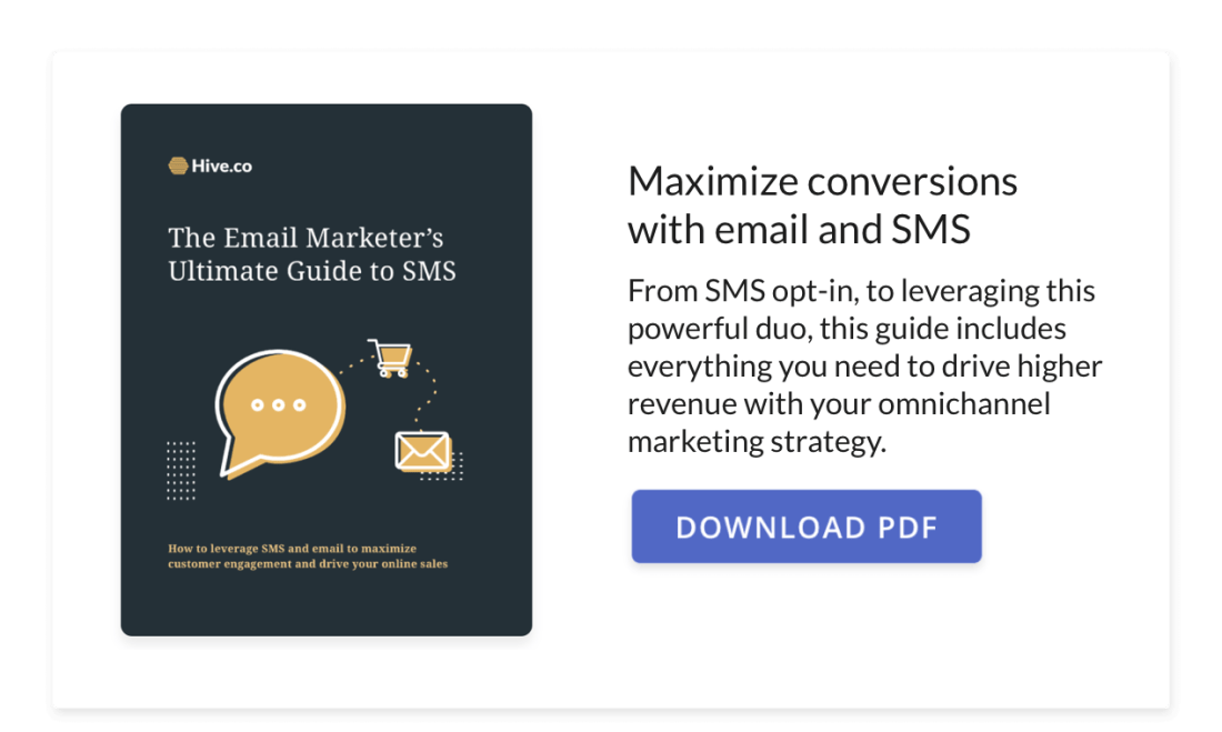 Hive's 2021 Email Marketer's Ultimate Guide to SMS