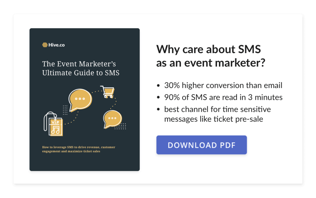 Hive's Ultimate Guide to SMS Marketing for Events